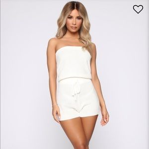 Fashion Nova No Days Off Tube Romper Small